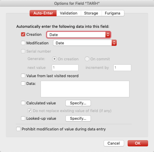 image 45 - Filemaker Field Options
